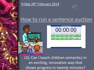 How to run a sentence auction