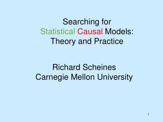 Richard Scheines Carnegie Mellon University