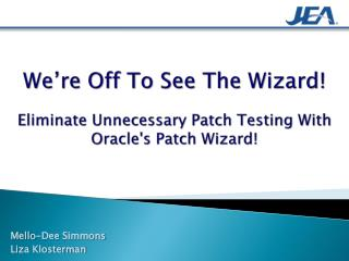 We're Off To See The Wizard! Eliminate Unnecessary Patch Testing With Oracle's Patch Wizard !