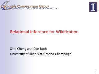 Relational Inference for Wikification