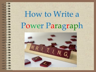 Power Paragraphs
