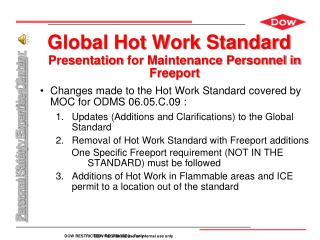 Global Hot Work Standard