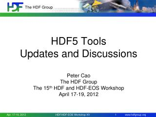 HDF5 Tools  Updates and Discussions