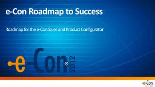 e -Con Roadmap to Success