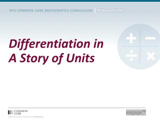 Differentiation in A Story of Units