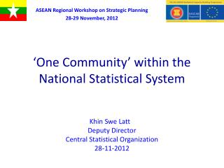 'One Community'  within the National Statistical System