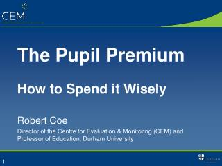 The Pupil Premium How to Spend it Wisely
