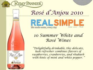 10 Summer White and  Rosé  Wines