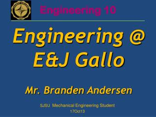 SJSU  Mechanical  Engineering Student 17Oct13