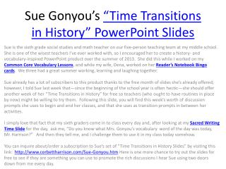 "Sue  Gonyou's ""Time Transitions in History"" PowerPoint Slides"