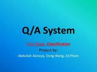 Q/A System