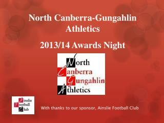 With thanks to our sponsor, Ainslie Football Club