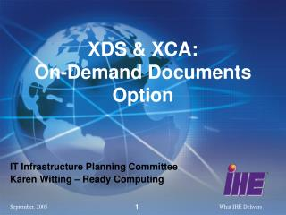 XDS & XCA:  On-Demand Documents Option