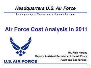 Air Force Cost Analysis in 2011