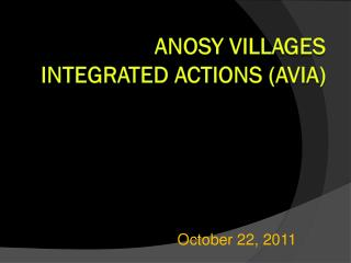 Anosy  Villages Integrated Actions (AVIA)