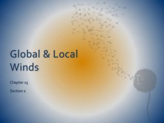 Global & Local Winds