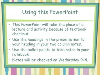 Using this PowerPoint