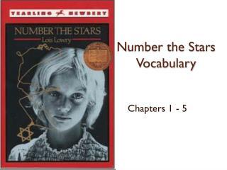 N umber the Stars Vocabulary