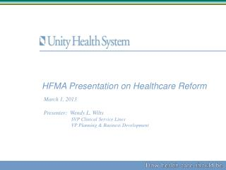 HFMA Presentation on Healthcare Reform