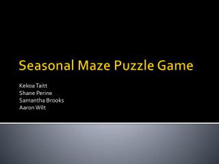 Seasonal Maze Puzzle Game
