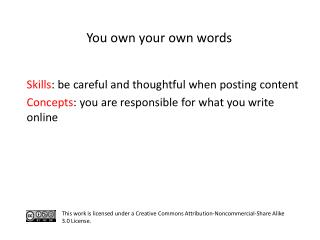 S kills :  be careful and thoughtful when posting content