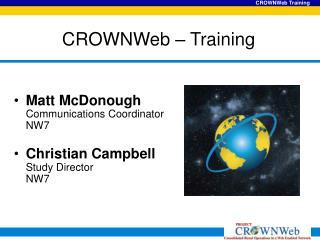 CROWNWeb – Training