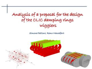Analysis of a proposal for the design  of the CLIC damping rings  wigglers