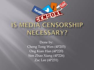 Is media censorship necessary?