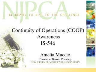 Continuity of Operations (COOP)  Awareness IS-546