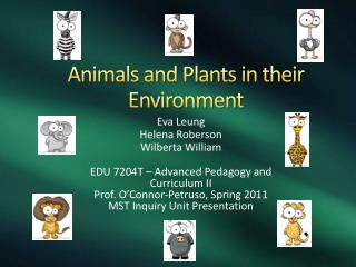 Animals and Plants in their Environment