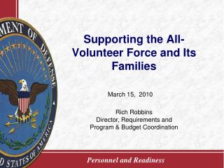 Supporting the All-Volunteer Force and Its Families