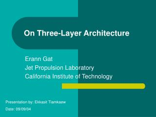 On Three-Layer Architecture