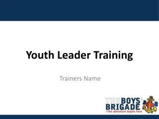 Youth Leader Training