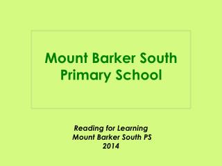 Mount Barker South Primary School
