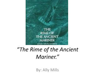 an analysis of the rime of the ancient mariner