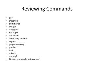 Reviewing Commands