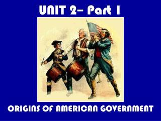 UNIT 2– Part 1