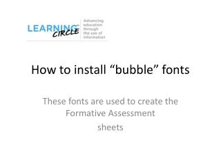 "How to install ""bubble"" fonts"