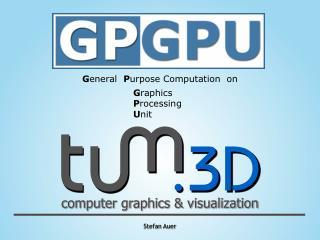 G eneral P urpose Computation on