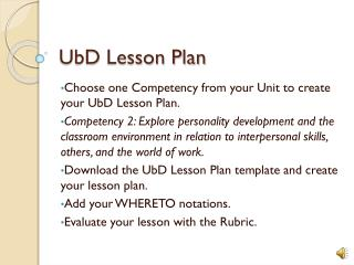 UbD  Lesson Plan