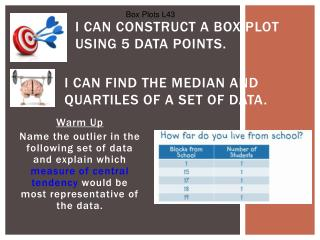 I can construct a box plot using 5 data points.
