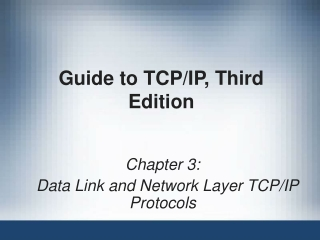 Data Link and Network Layer TCP