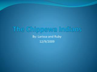 The Chippewa Indians