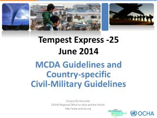 MCDA Guidelines and  Country-specific  Civil-Military Guidelines