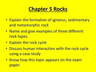 Chapter 5 Rocks