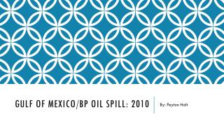 Gulf of Mexico/BP Oil Spill: 2010