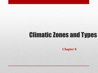 Climatic Zones and Types