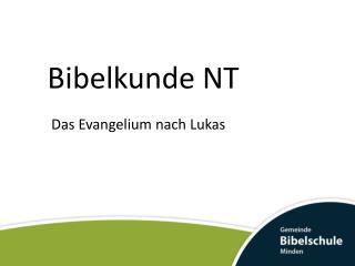 Bibelkunde NT