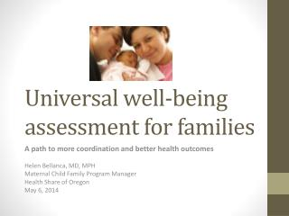 Universal well-being assessment for families