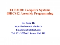 ECE3120: Computer Systems 68HCS12 Assembly Programming